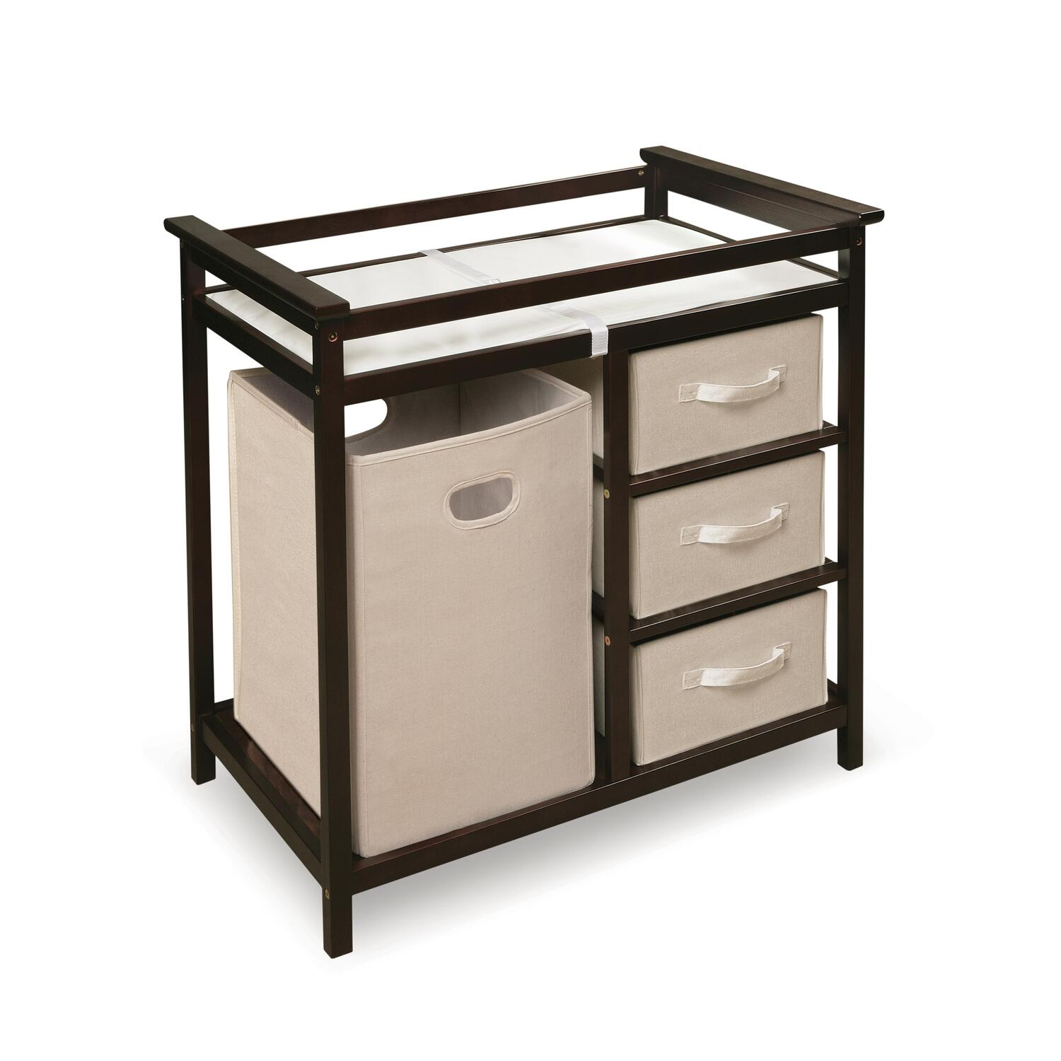 Badger Basket Modern Changing Table With Three Baskets