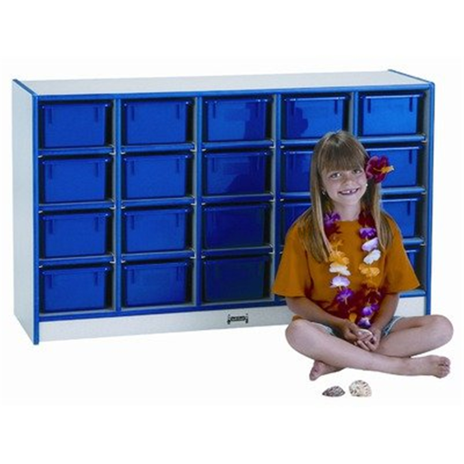30 Tray Mobile Cubbie With Trays - [0431JCWW004]