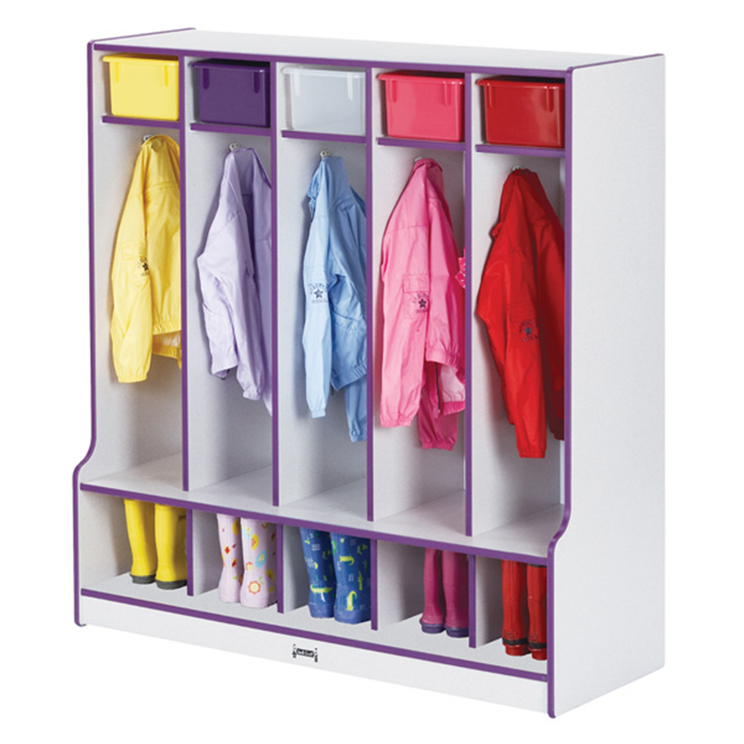 Coat Locker With Step  - 5 Sections - [0468JCWW003]