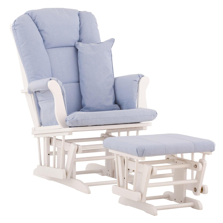 Stork craft custom tuscany glider and ottoman with free for Stork craft tuscany glider rocking chair ottoman
