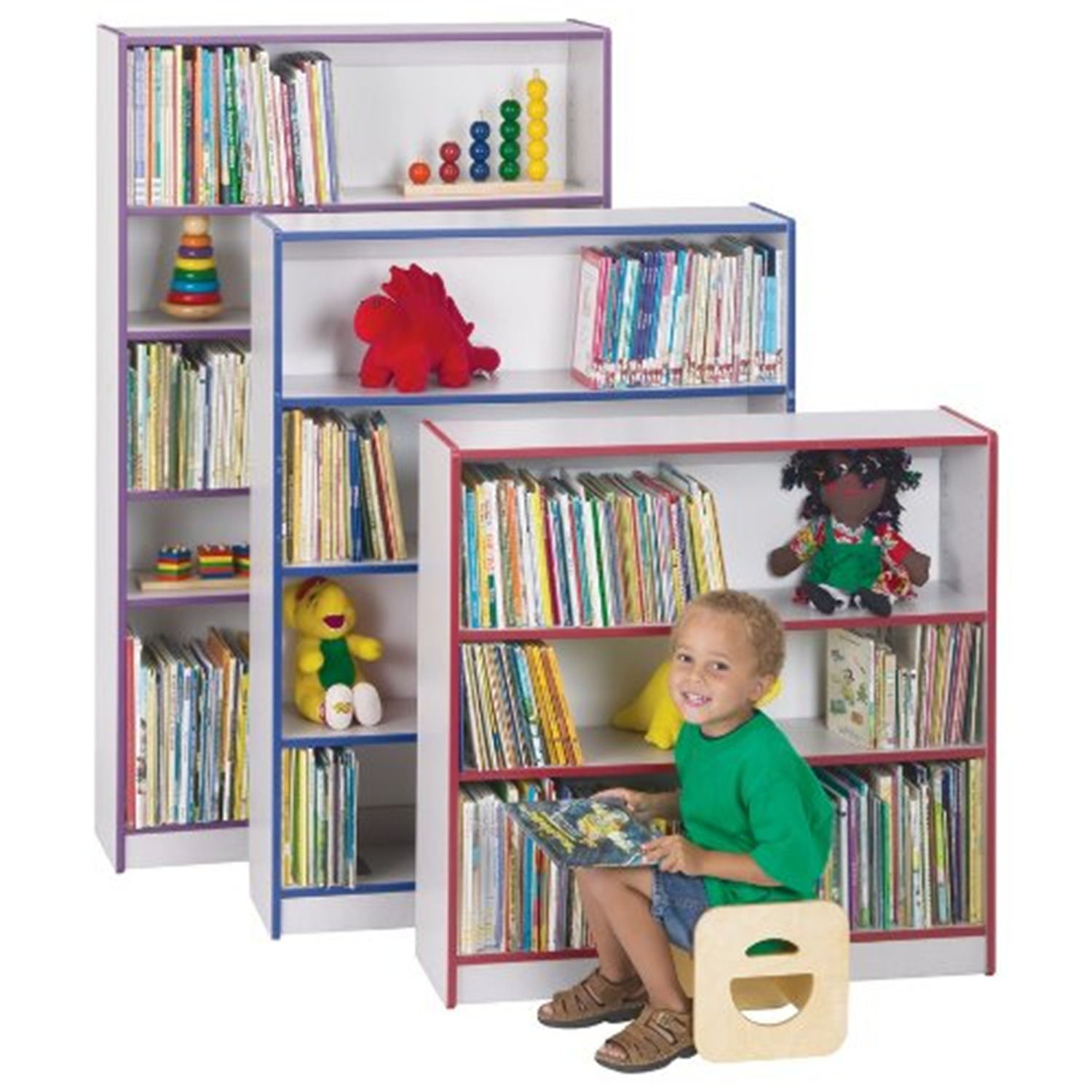 Rainbow Accents 0961jc180 Bookcase 48 In. High Black
