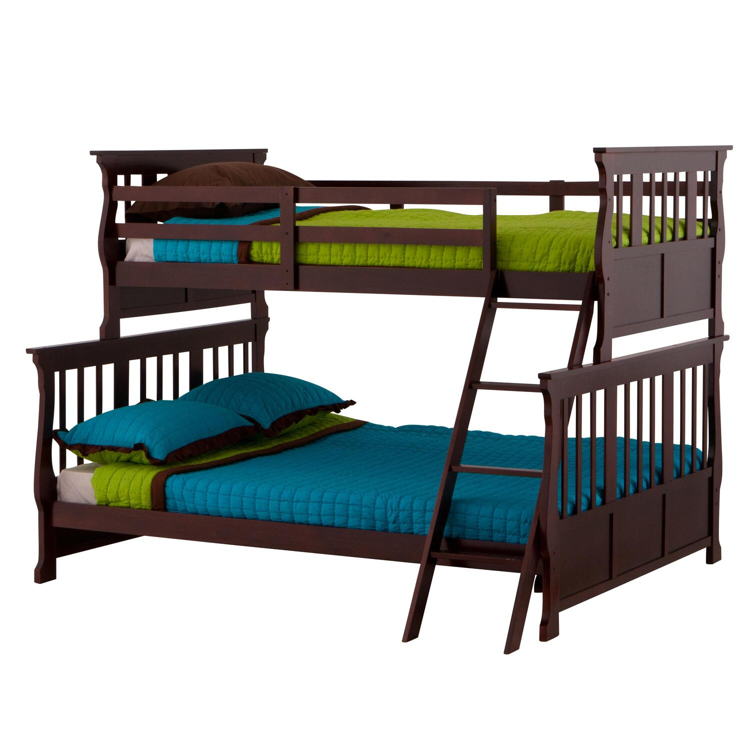 Home Twin Over Double Bunk Bed With Mattresses Pictures to pin on ...