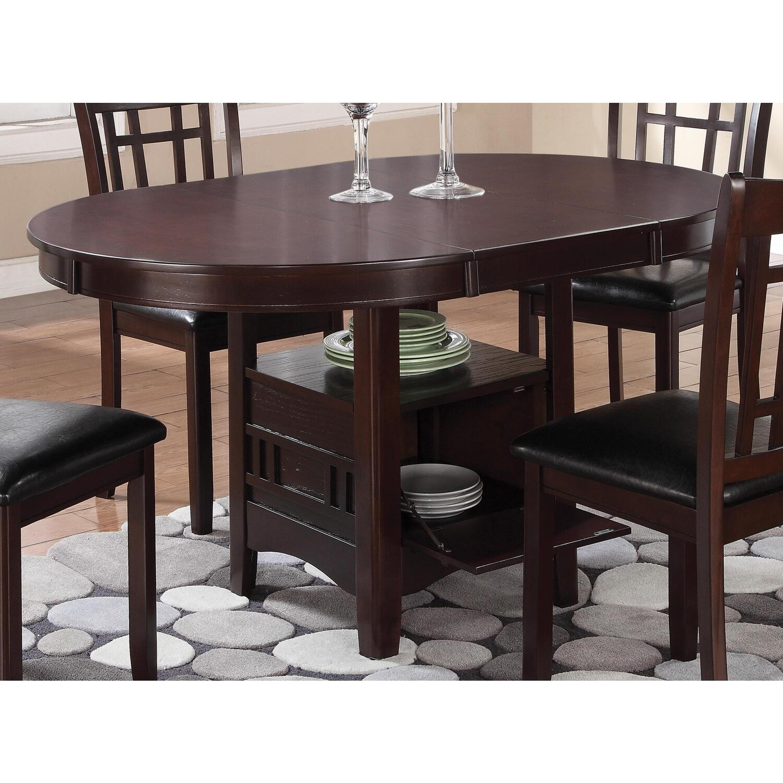 dining table with 18 extension leaf ojcommerce. Black Bedroom Furniture Sets. Home Design Ideas