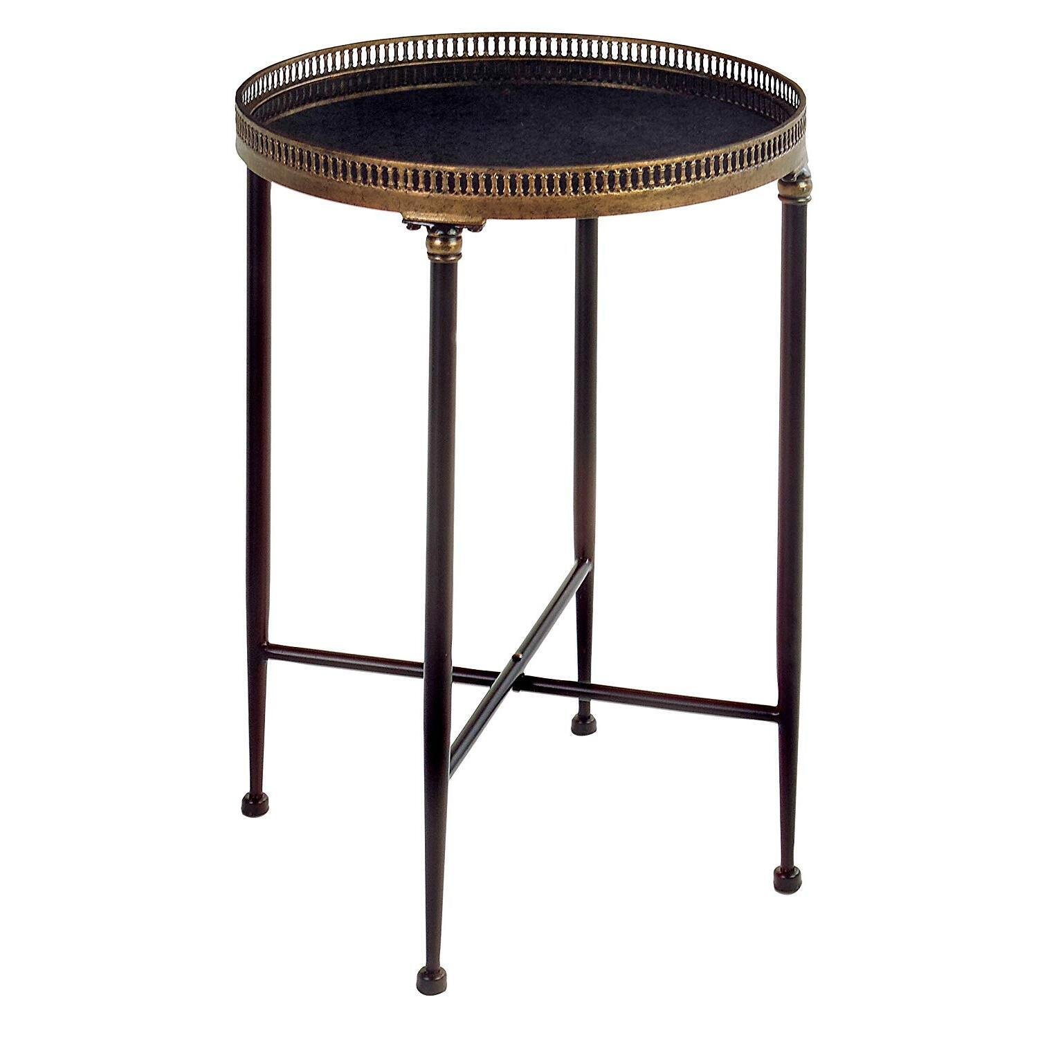 Round black accent table ojcommerce