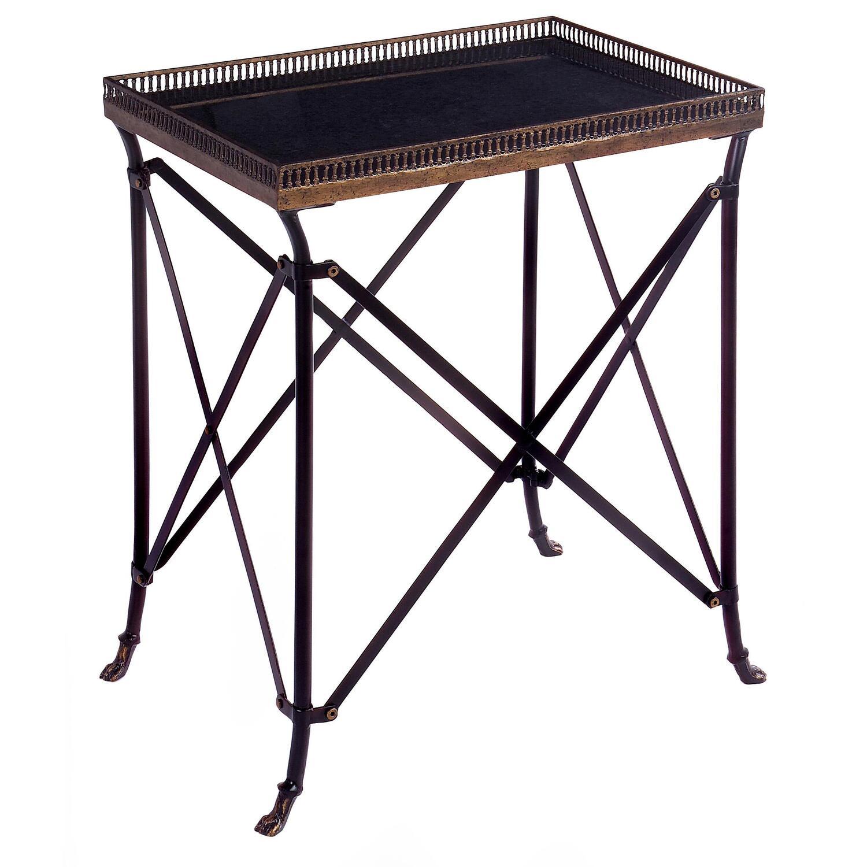 Rectangular Black Accent Table Ojcommerce