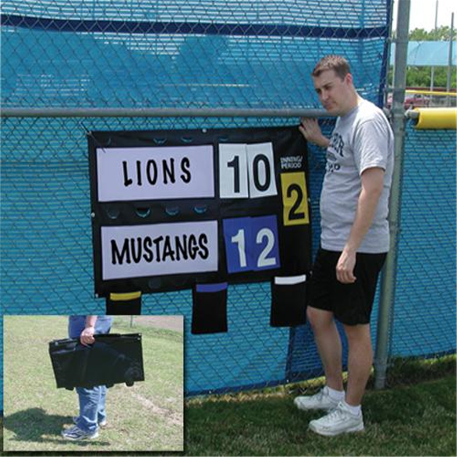 Portable Fence Mounted Scoreboard - [1240009]