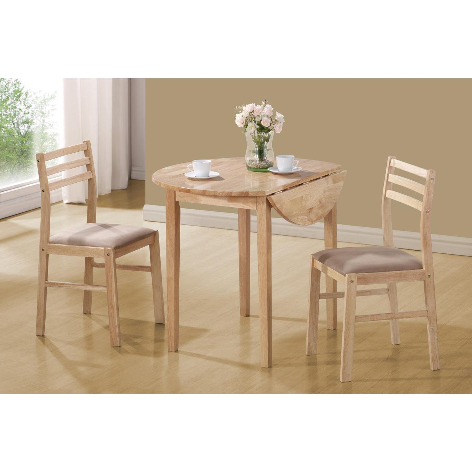 3 piece dining set ojcommerce for Kitchen dinette sets