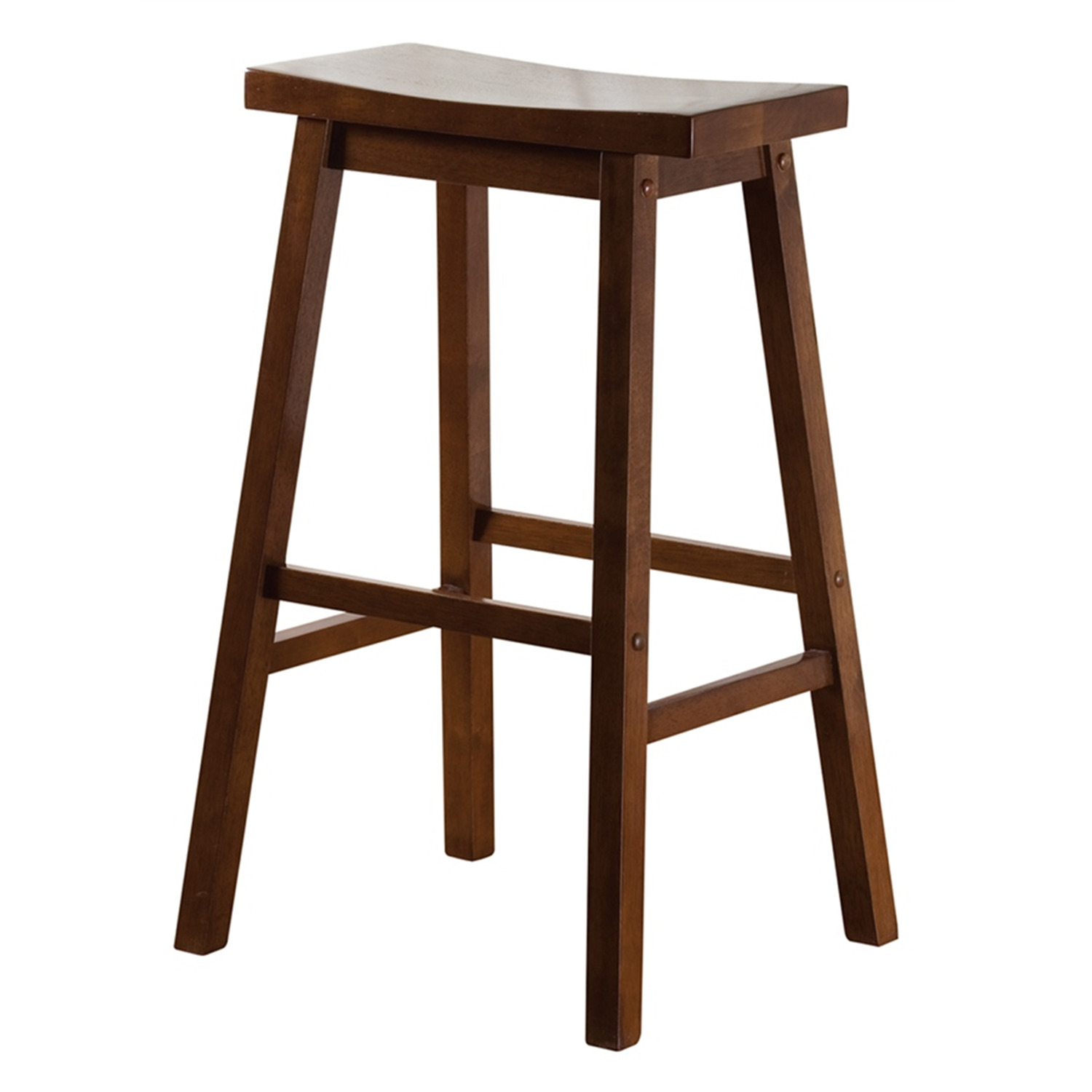 Wood Saddle Bar Stool - [130802WA]
