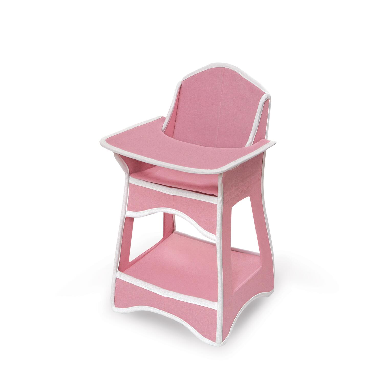 High Chair Toy Holder : Folding doll furniture set with storage crib high chair