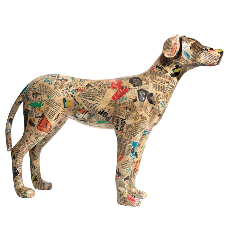 Decoupage Dog Sculpture   OJCommerce