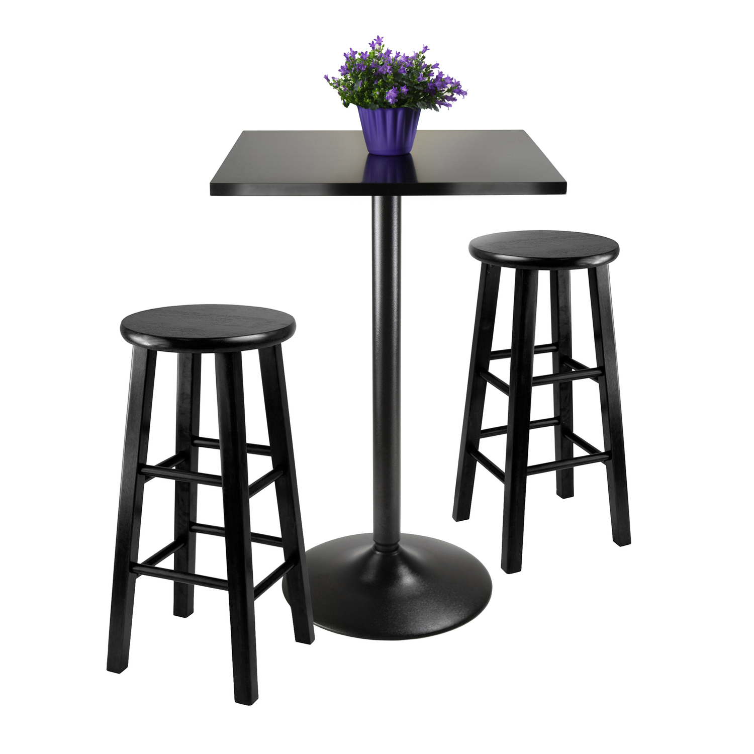 Obsidian 3 Piece Counter Height Dining Set Ojcommerce