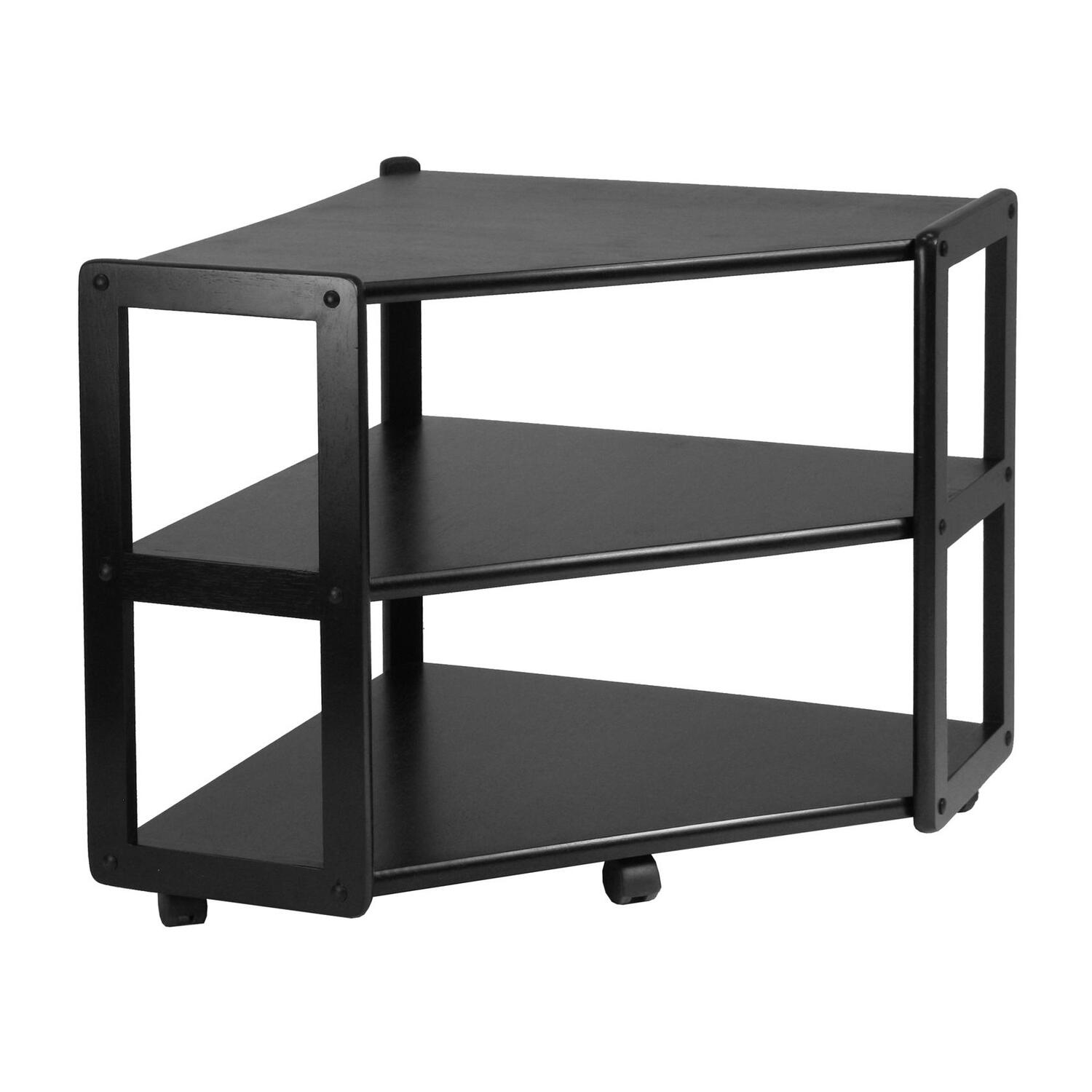 winsome 20423 derby corner tv stand with shelf. Black Bedroom Furniture Sets. Home Design Ideas