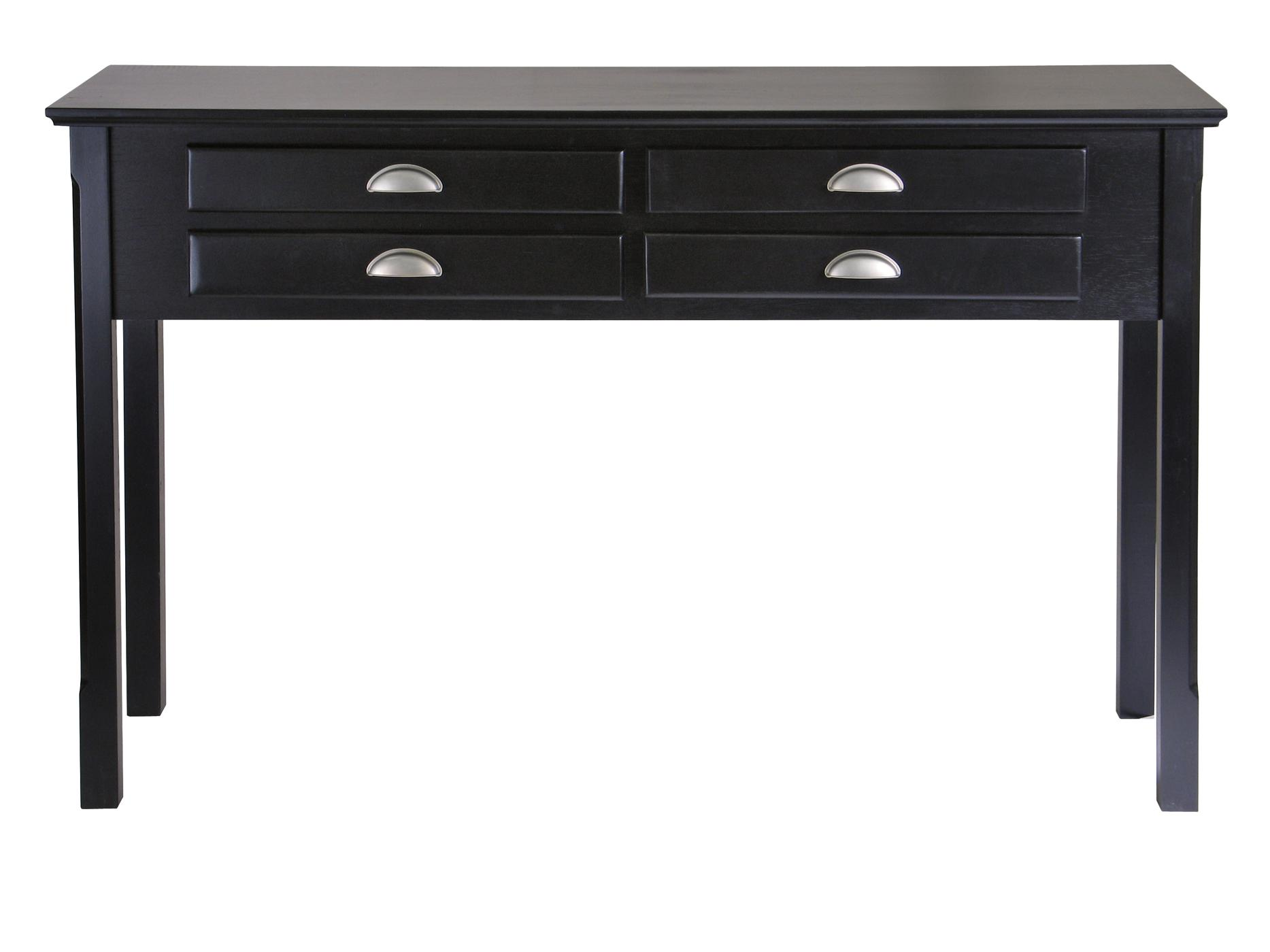 Timber hall console table drawers ojcommerce for Hall console table