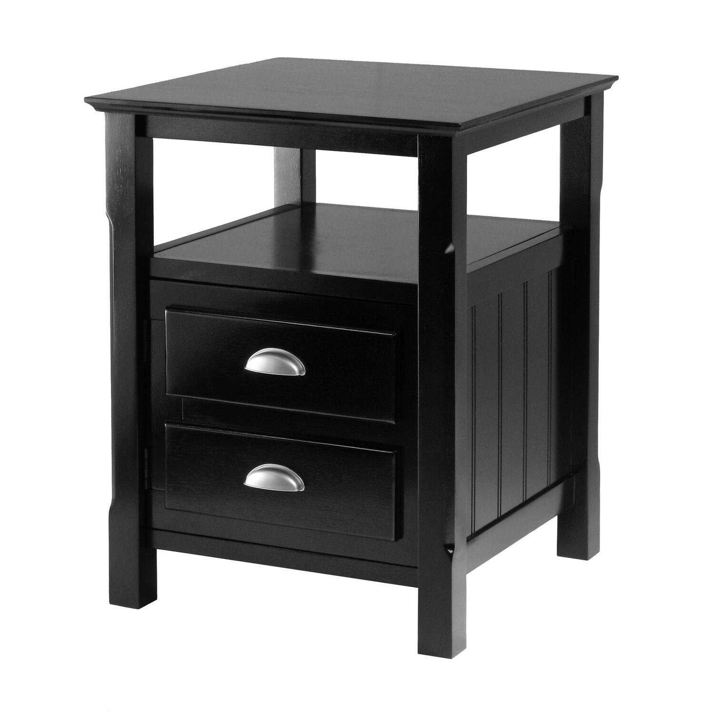 timber night stand ojcommerce. Black Bedroom Furniture Sets. Home Design Ideas