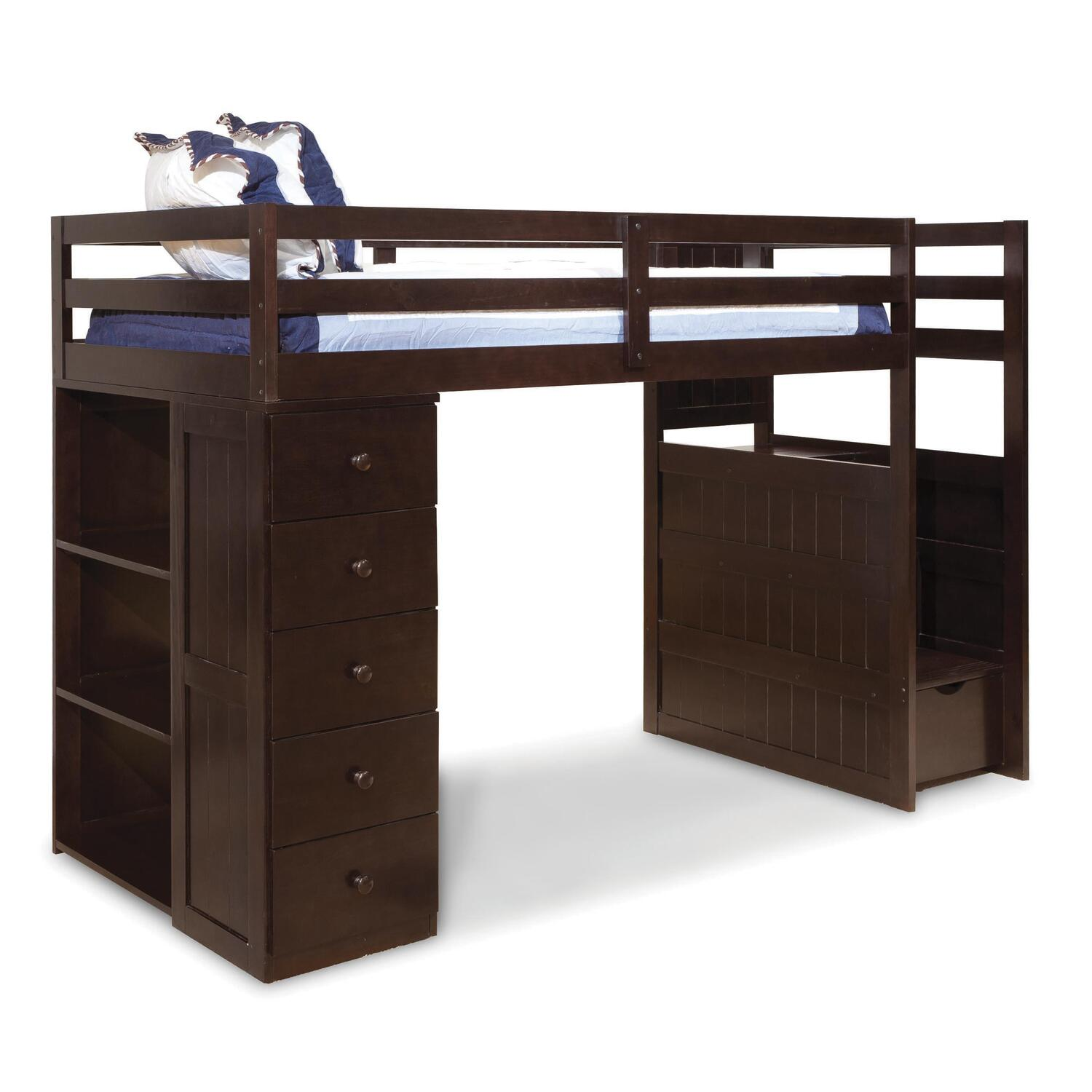 Canwood Mountaineer Twin Loft Bed With Storage Tower And