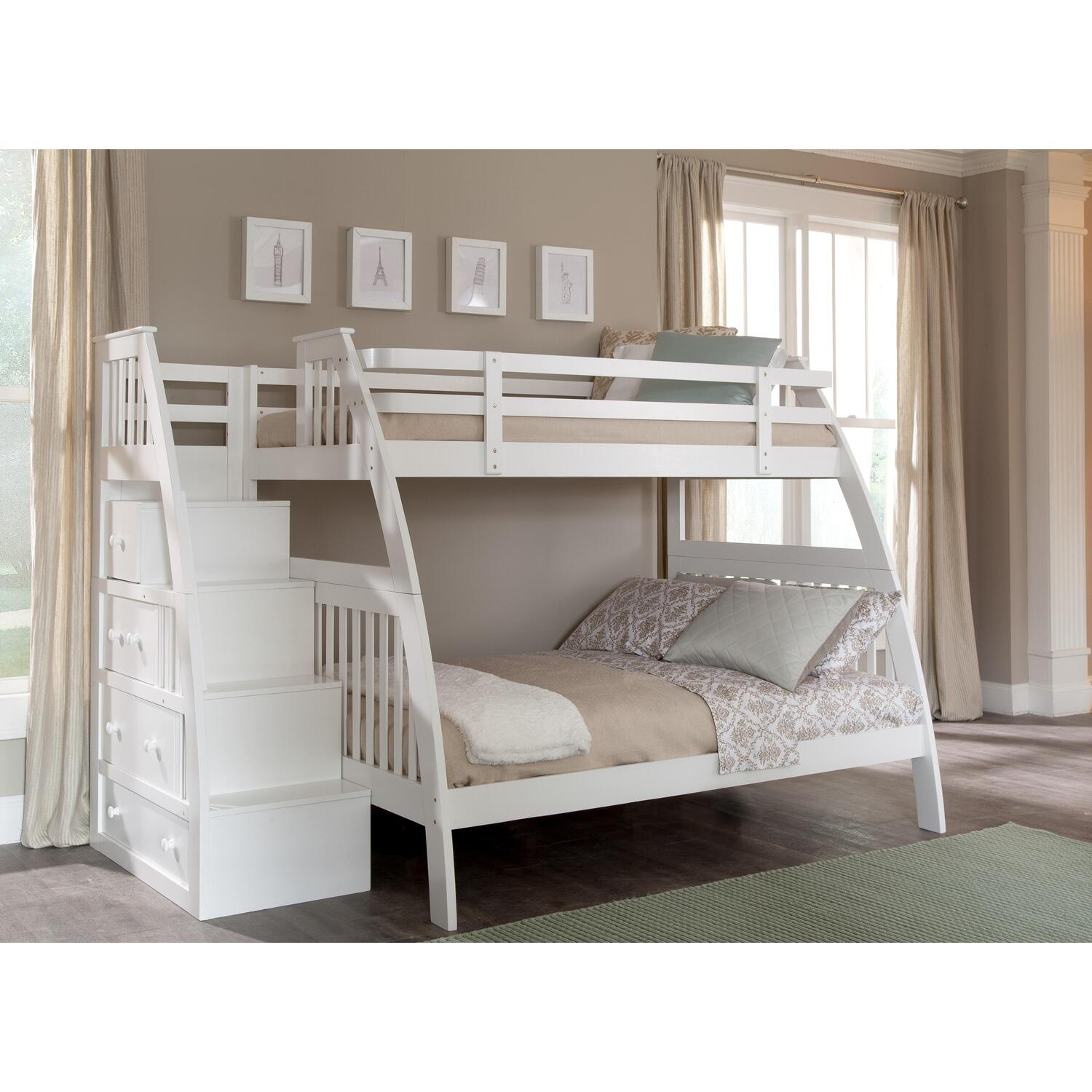 bunk bed trundle stairs. twin over bunk beds with stairs appealing