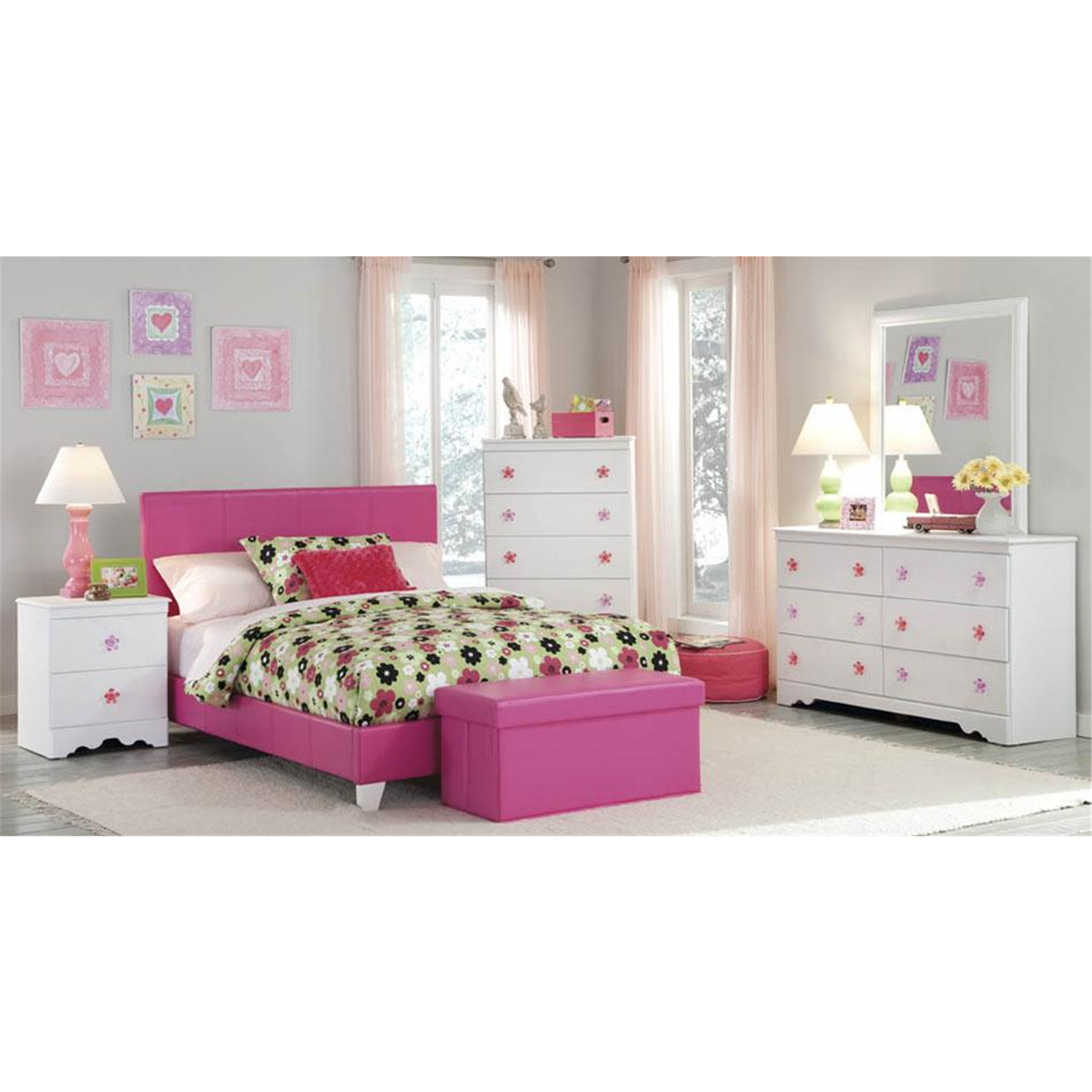 Savannah bedroom set pink ojcommerce American home furniture bed frames