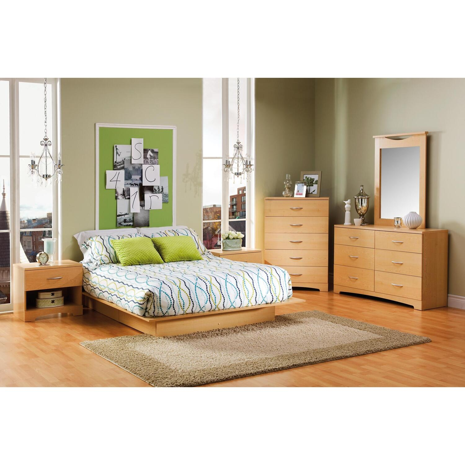 Copley full queen platform bed 7 piece bedroom set 1409 7 piece queen bedroom furniture sets
