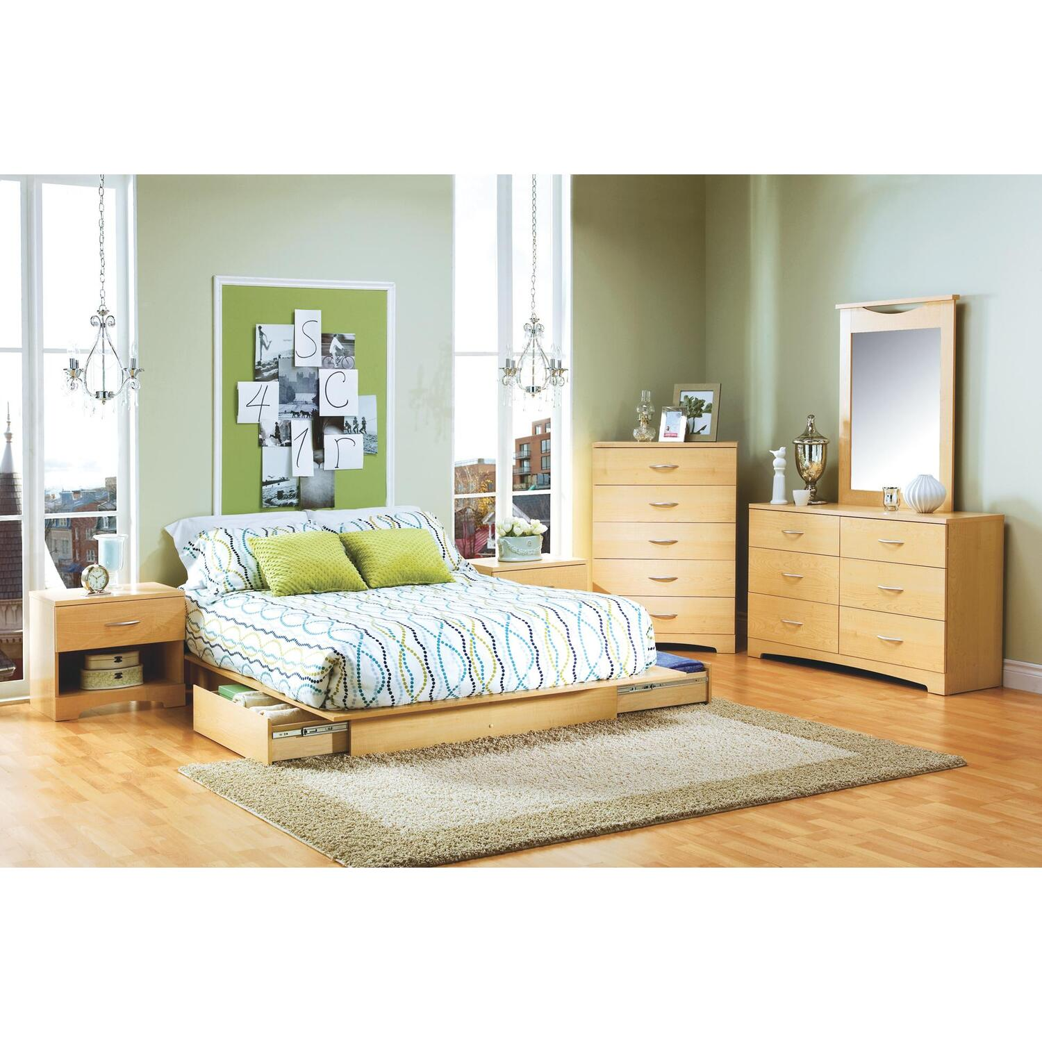 Copley Full/Queen Platform Bed 6 Piece Bedroom Set