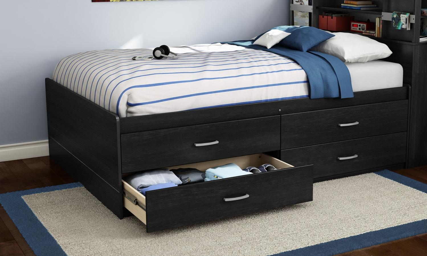 Captains beds black - Cosmos Full Captains Bed 54