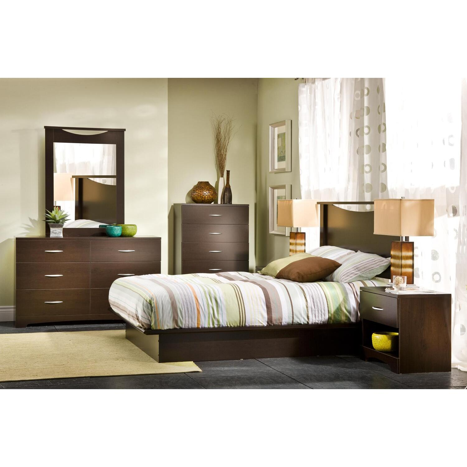 Genial Back Bay Queen Platform 7 Piece Bedroom Set   [3159Q7PC]