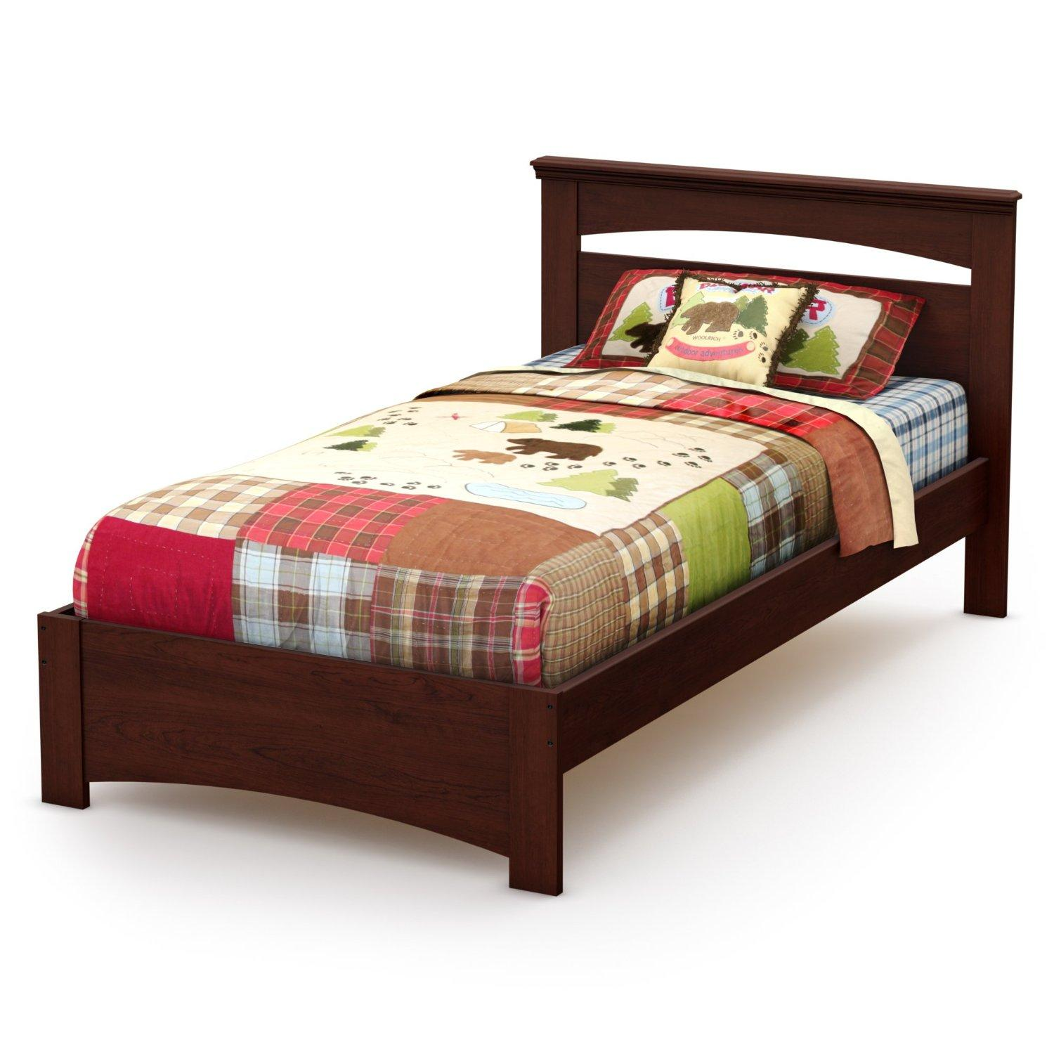 South shore libra twin bed set by oj commerce 3859189 for Twin mattress and frame