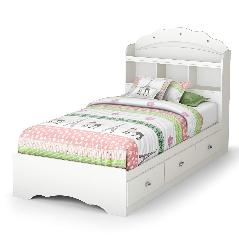South Shore Tiara Twin Mate S Bed Bookcase Headboard