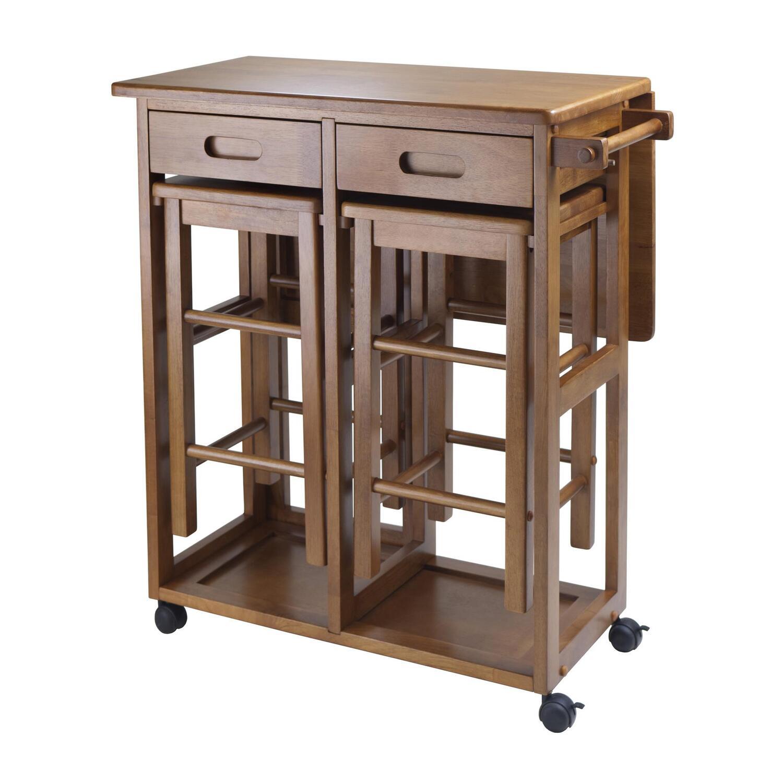 Enjoyable Winsome Wood Space Saver With 2 Stools Square Creativecarmelina Interior Chair Design Creativecarmelinacom