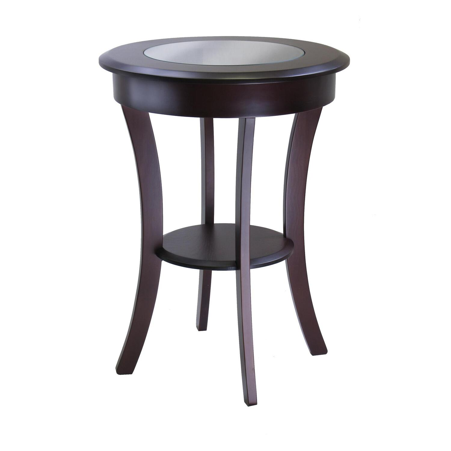 Exceptional Cassie Round Accent Table With Glass