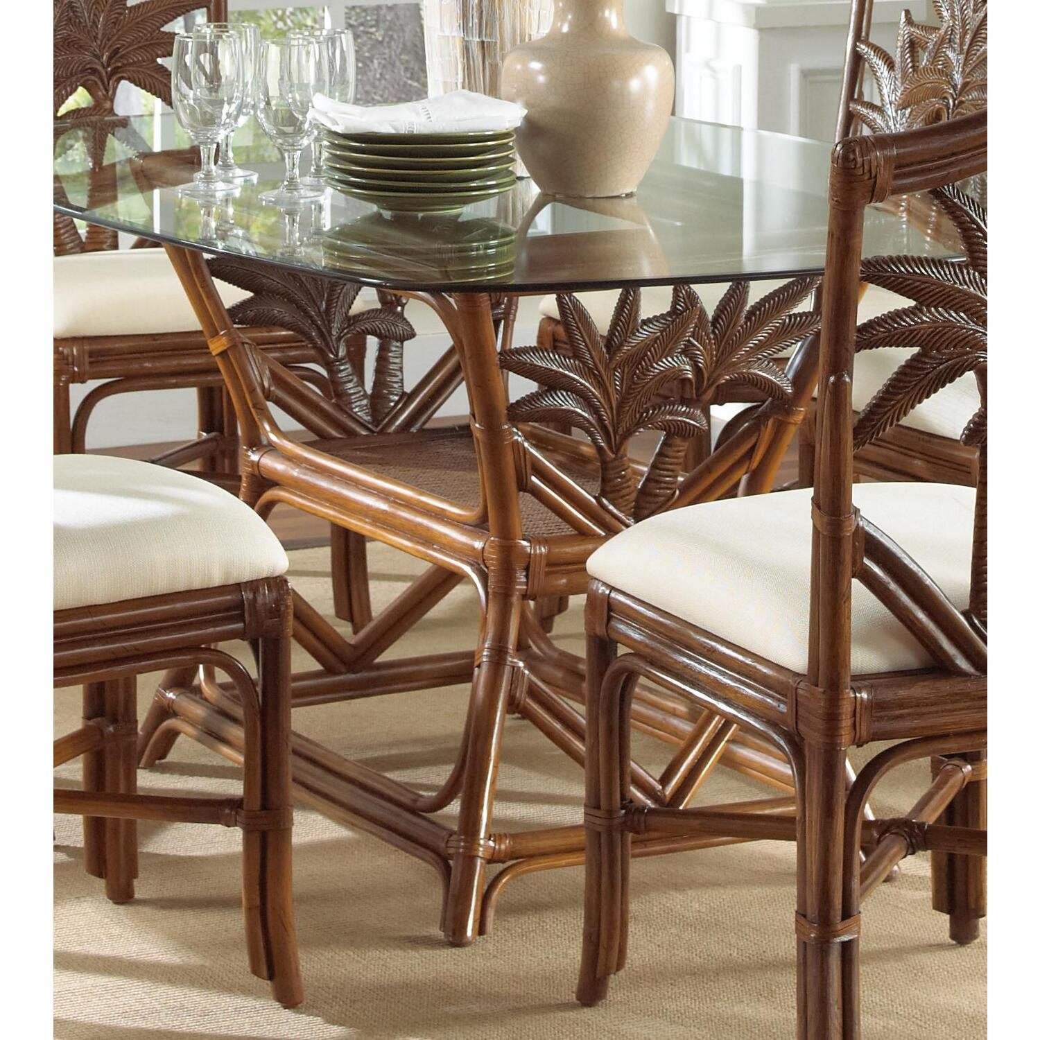 Indoor Rattan & Wicker Rectangular Dining Table