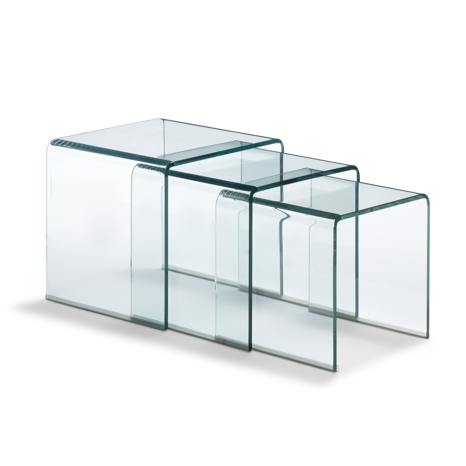 Explorer Nesting Table Clear Glass Ojcommerce