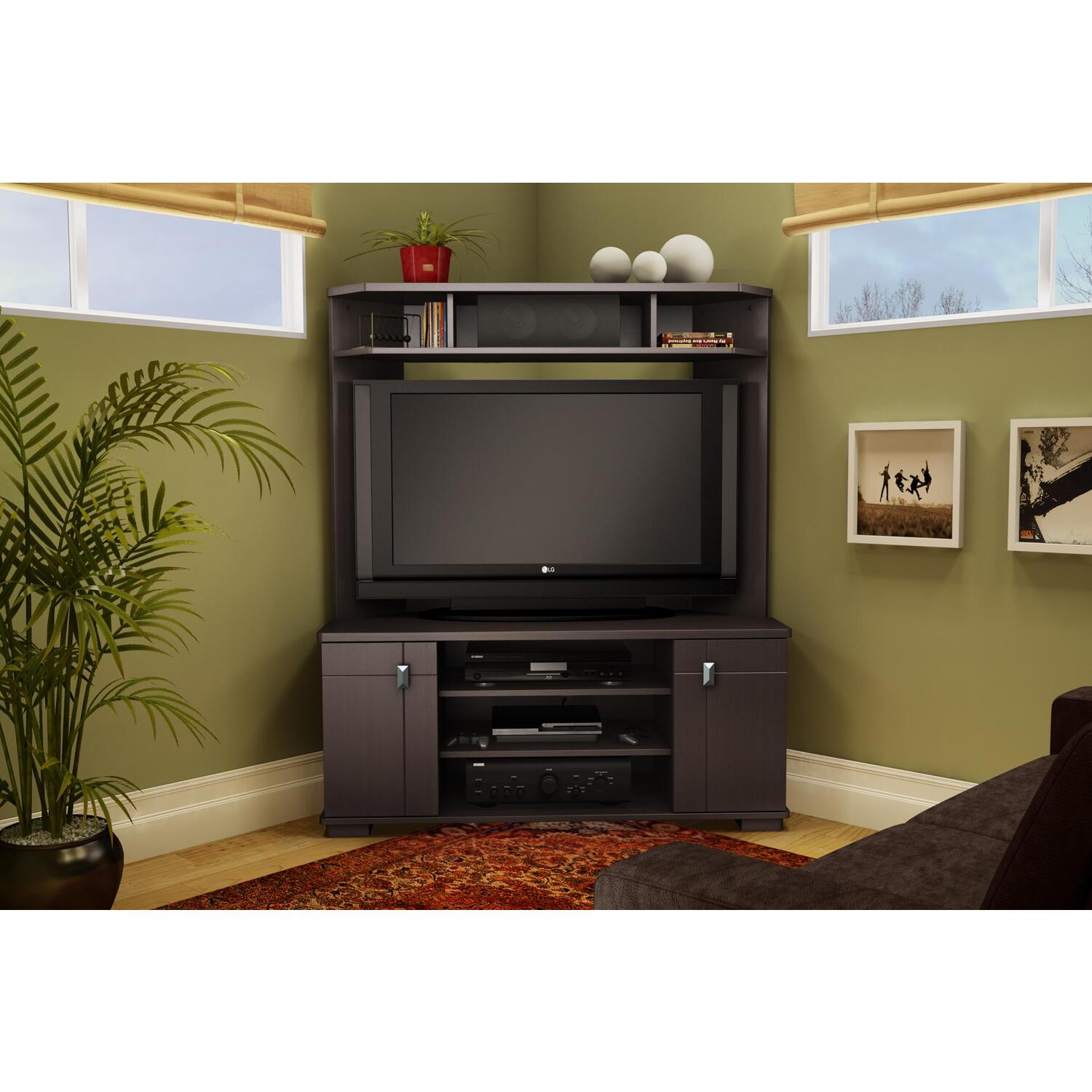 Vertex corner tv unit ojcommerce for Living room corner tv ideas