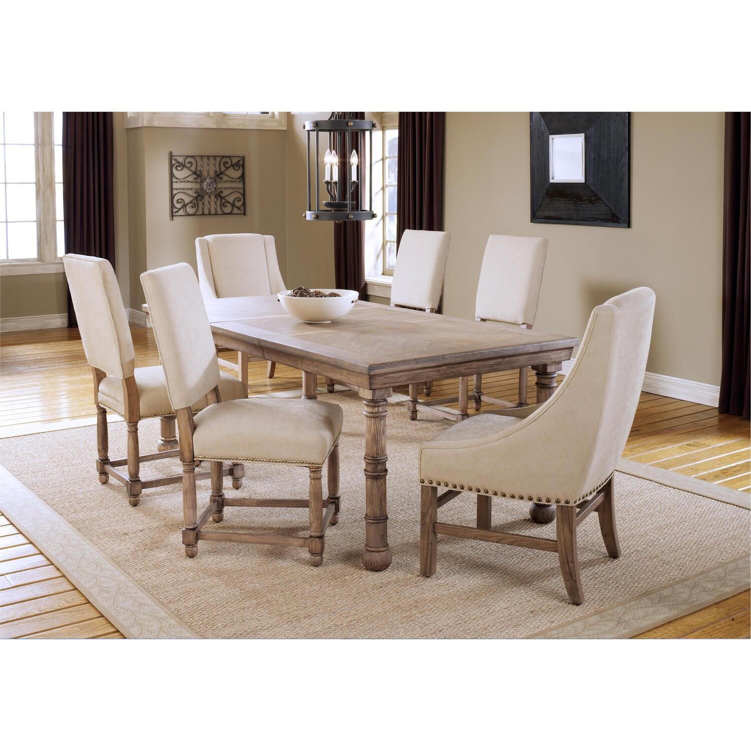 Hartland 7 Piece Dining Set Table 4 Side Chairs Amp 2