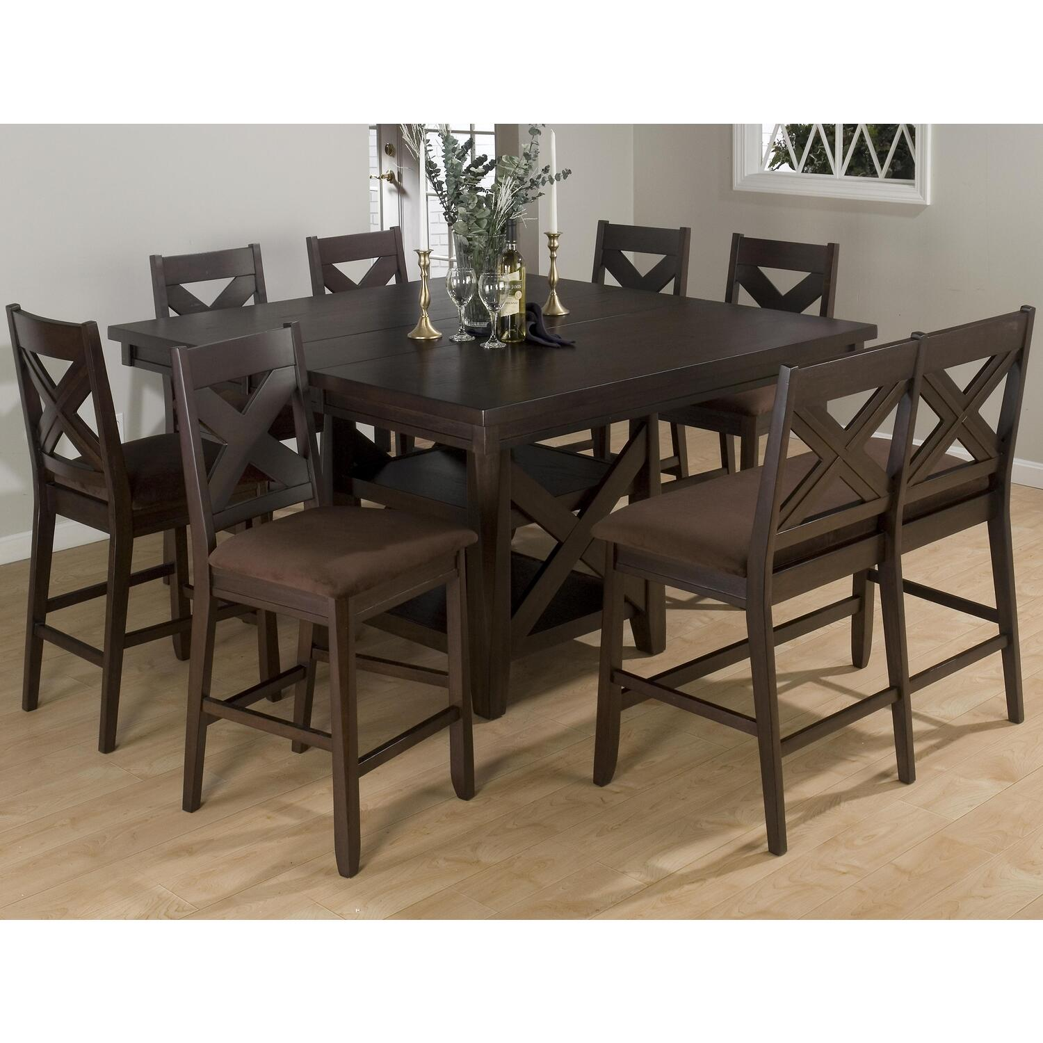 Jofran Counter Height 9-Piece Dining Set by OJ Commerce ...