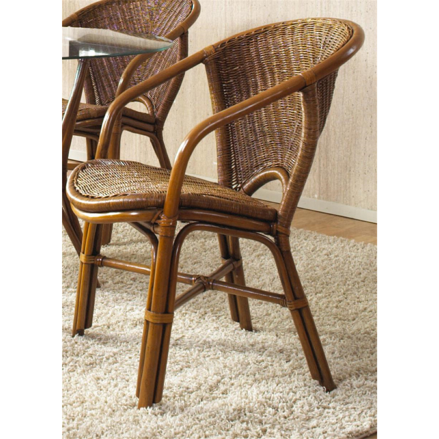 indoor rattan  u0026 wicker arm chair