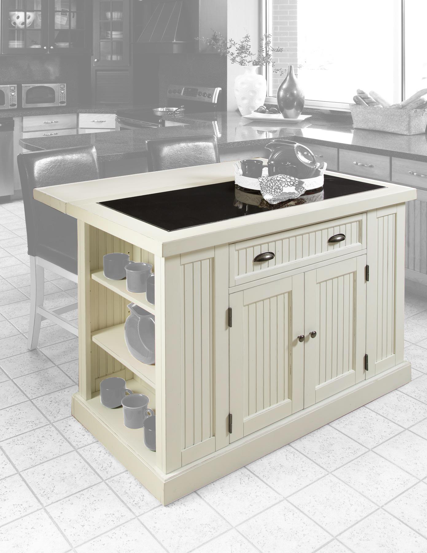Nantucket kitchen island distressed finish ojcommerce for Nantucket style kitchen