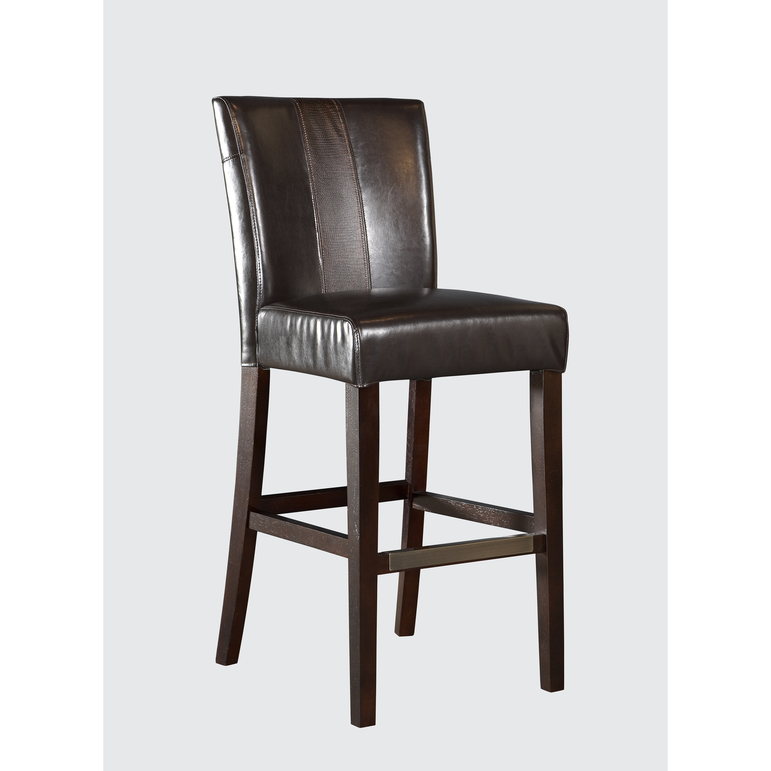 brown faux leather parsons bar stool ojcommerce. Black Bedroom Furniture Sets. Home Design Ideas