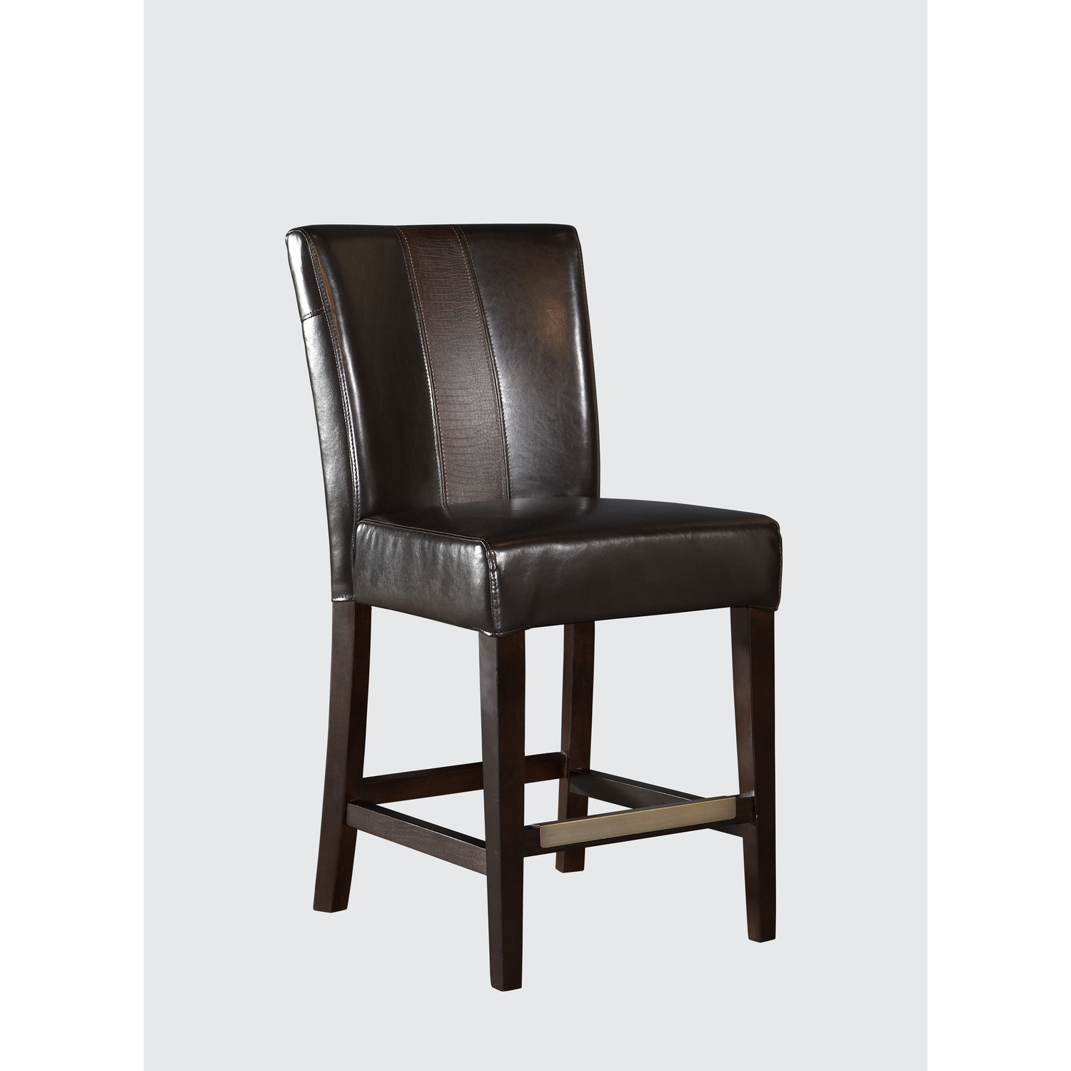 Brown Faux Leather Parsons Counter Stool 147 00
