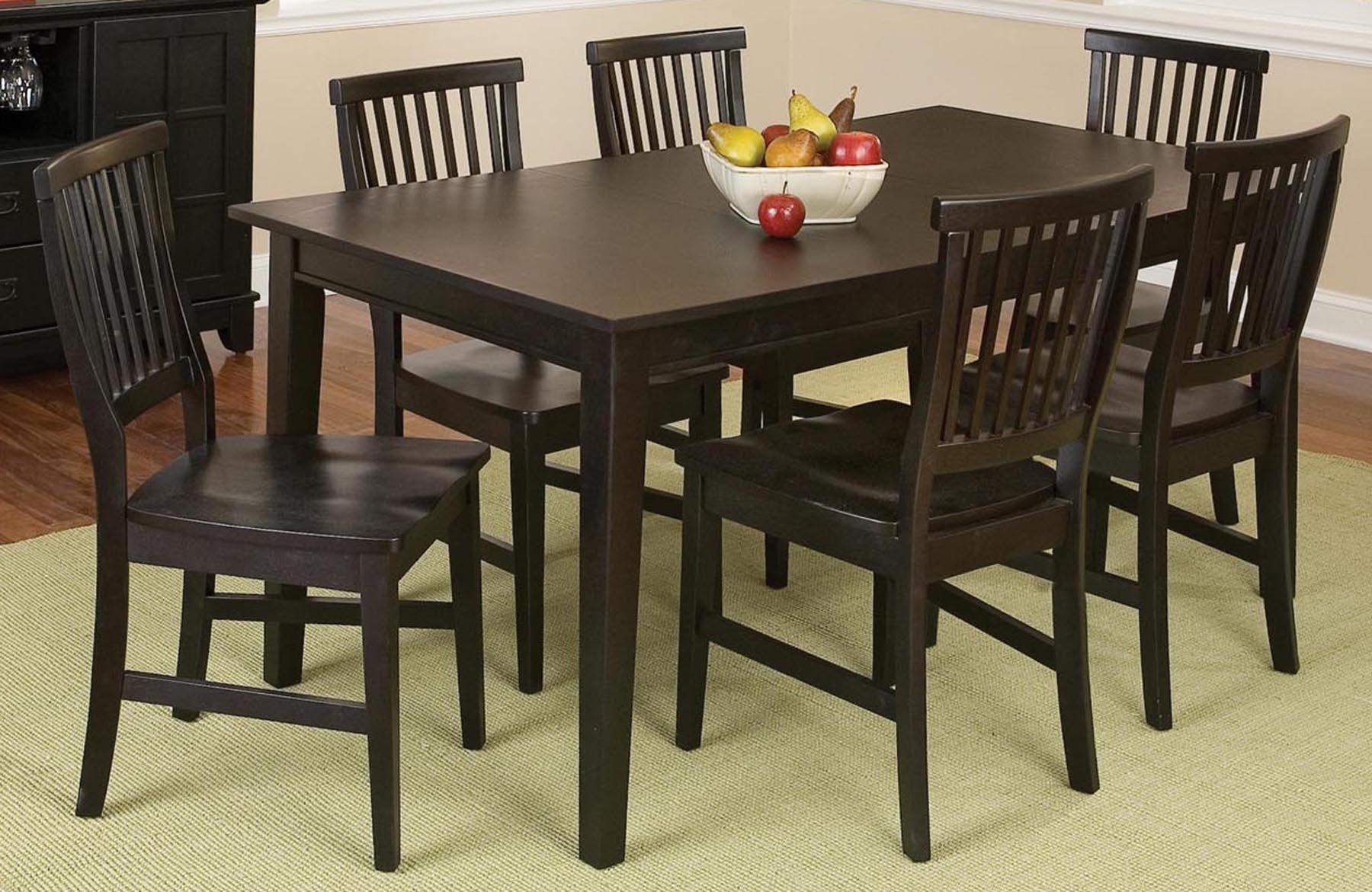 Arts and crafts 7 piece dining set ojcommerce for 7 piece dining set