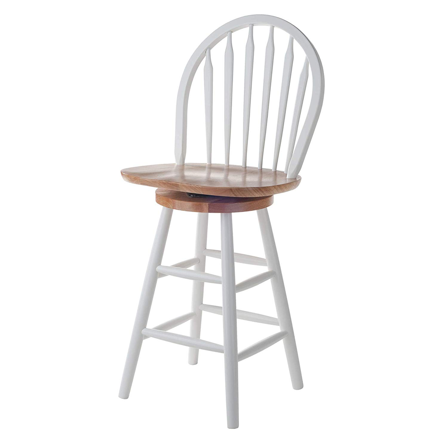 Stupendous Winsome Wood Windsor 24 Counter Height Swivel Bar Stool Squirreltailoven Fun Painted Chair Ideas Images Squirreltailovenorg