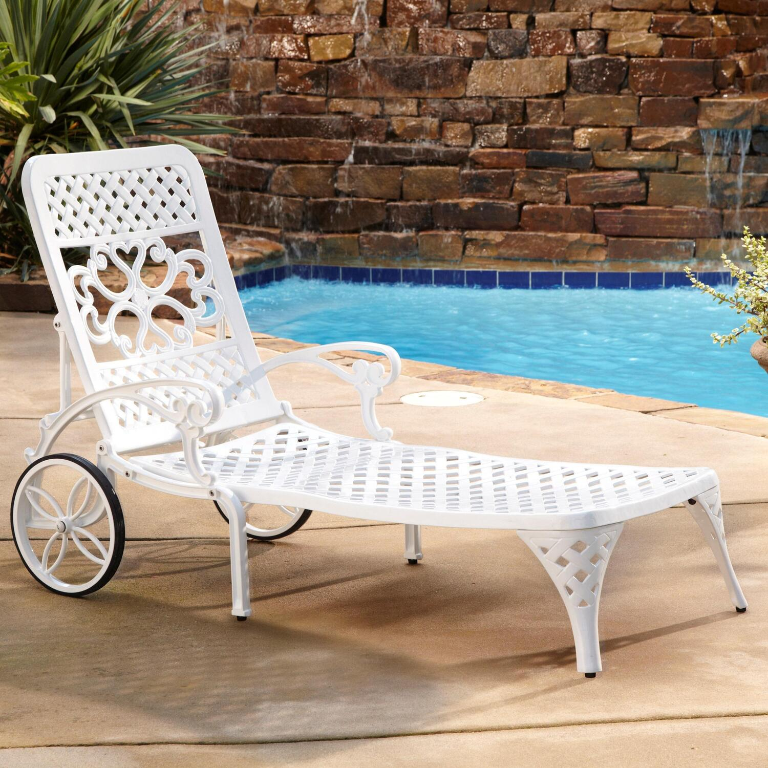 Strange Home Styles Biscayne Chaise Lounge Chair White Alphanode Cool Chair Designs And Ideas Alphanodeonline