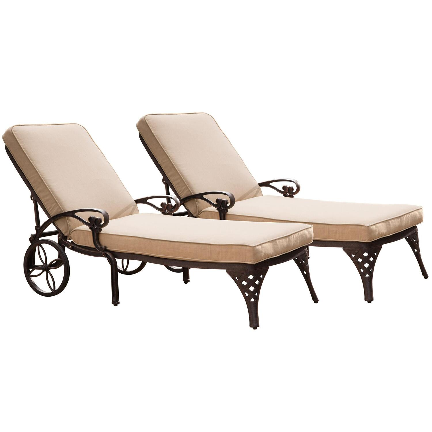 Home styles biscayne chaise lounge chairs 2 cushions by for Chaise lounge com