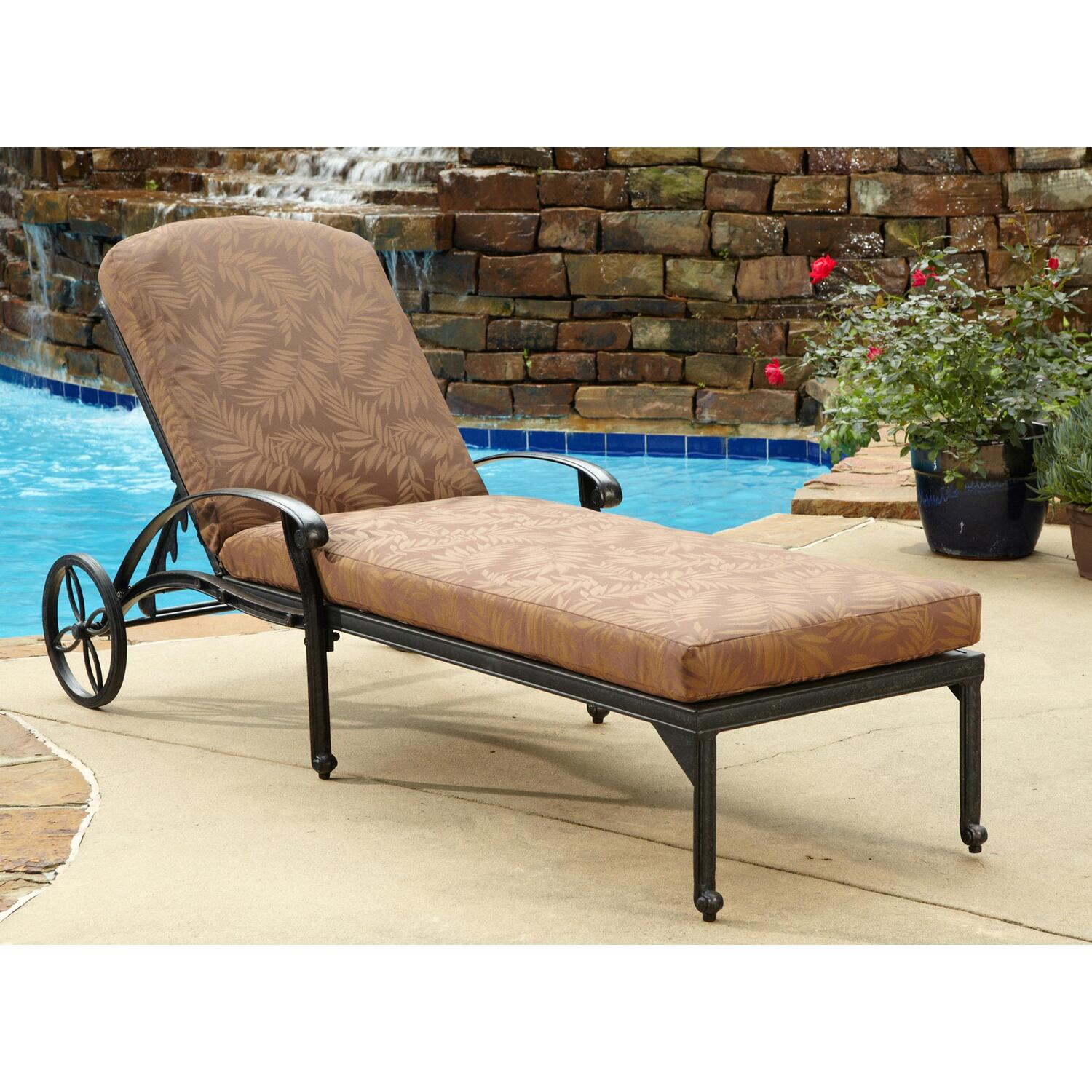 Floral Blossom Chaise Lounge Chair W Cushion Ojcommerce