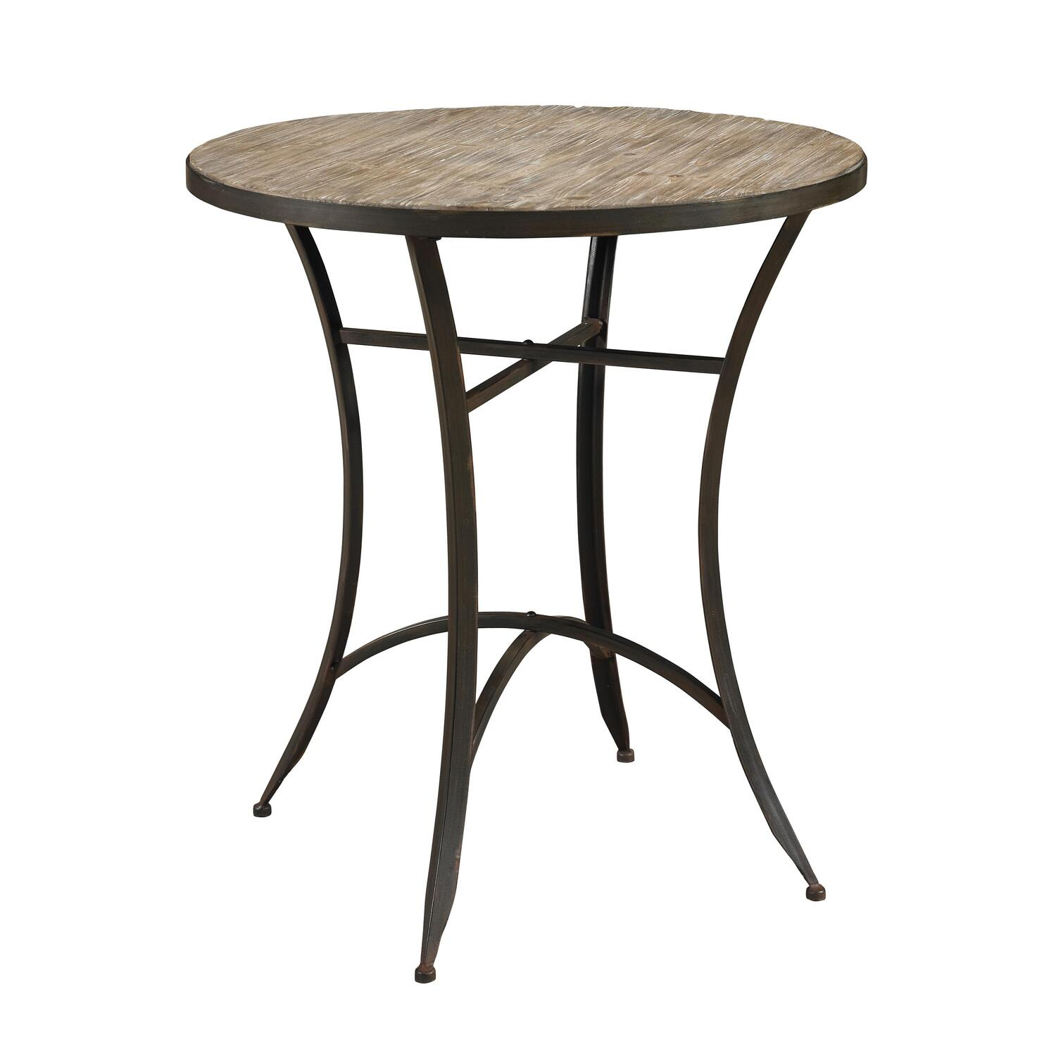Driftwood round table side chairs ojcommerce for Side chairs for dining table