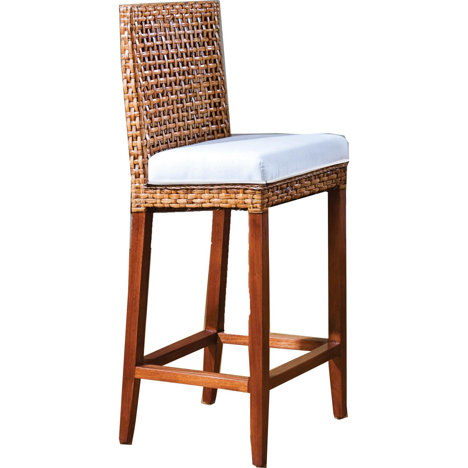 Indoor Rattan & Wicker Bar Stool | OJCommerce