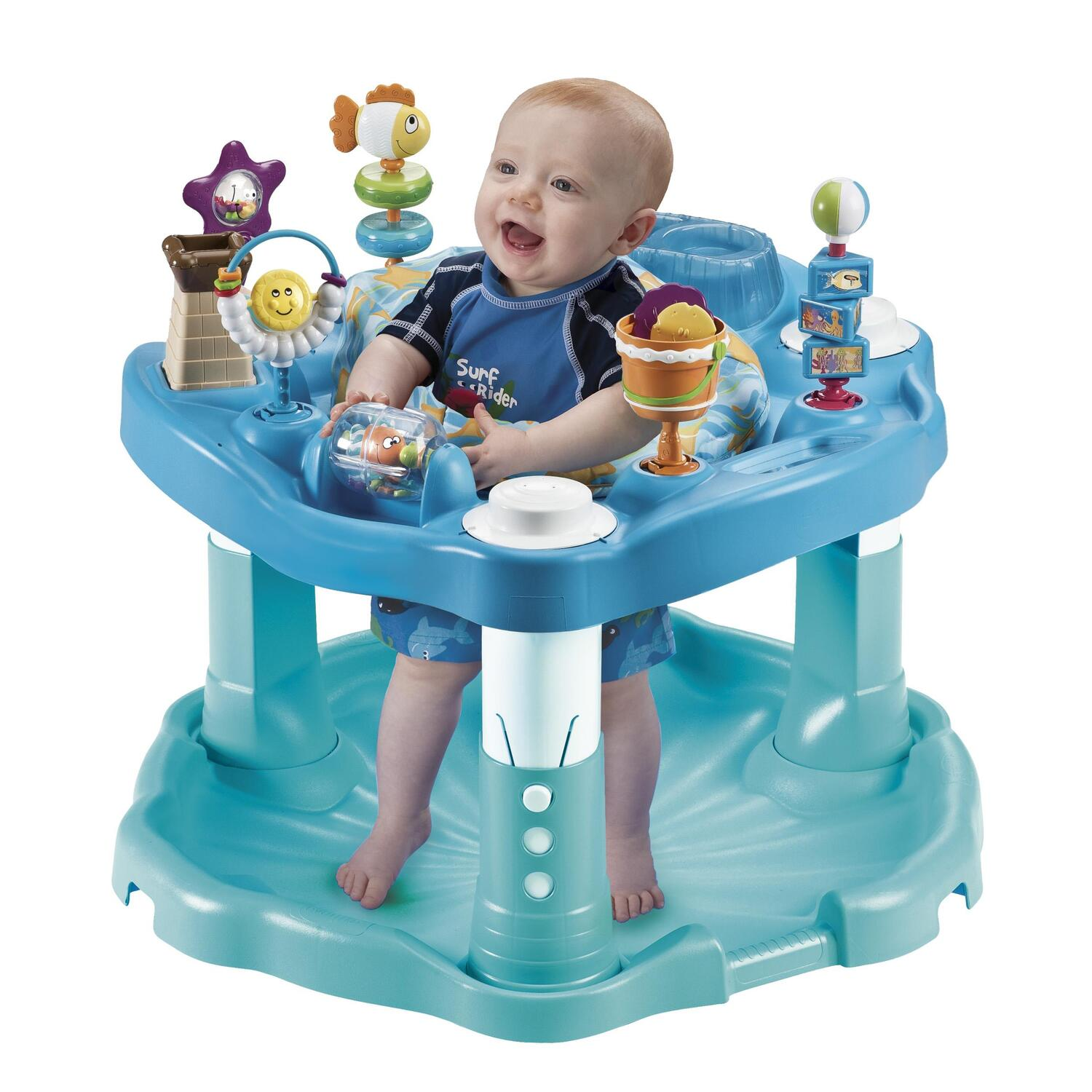 Evenflo Exersaucer Jump and Learn Stationary Jumper Jungle ...