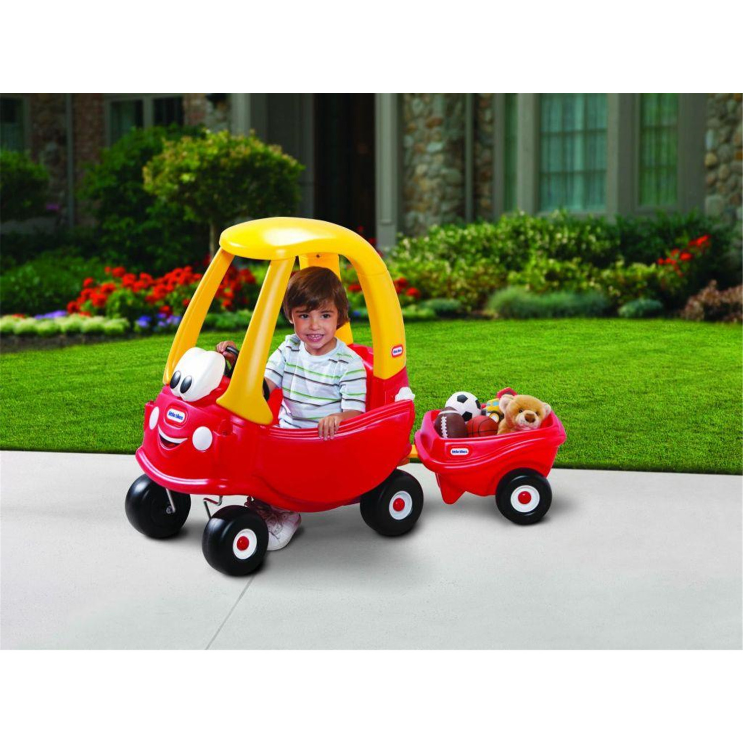Little tikes cozy coupe 30th anniversary with cozy for Little tikes motorized vehicles