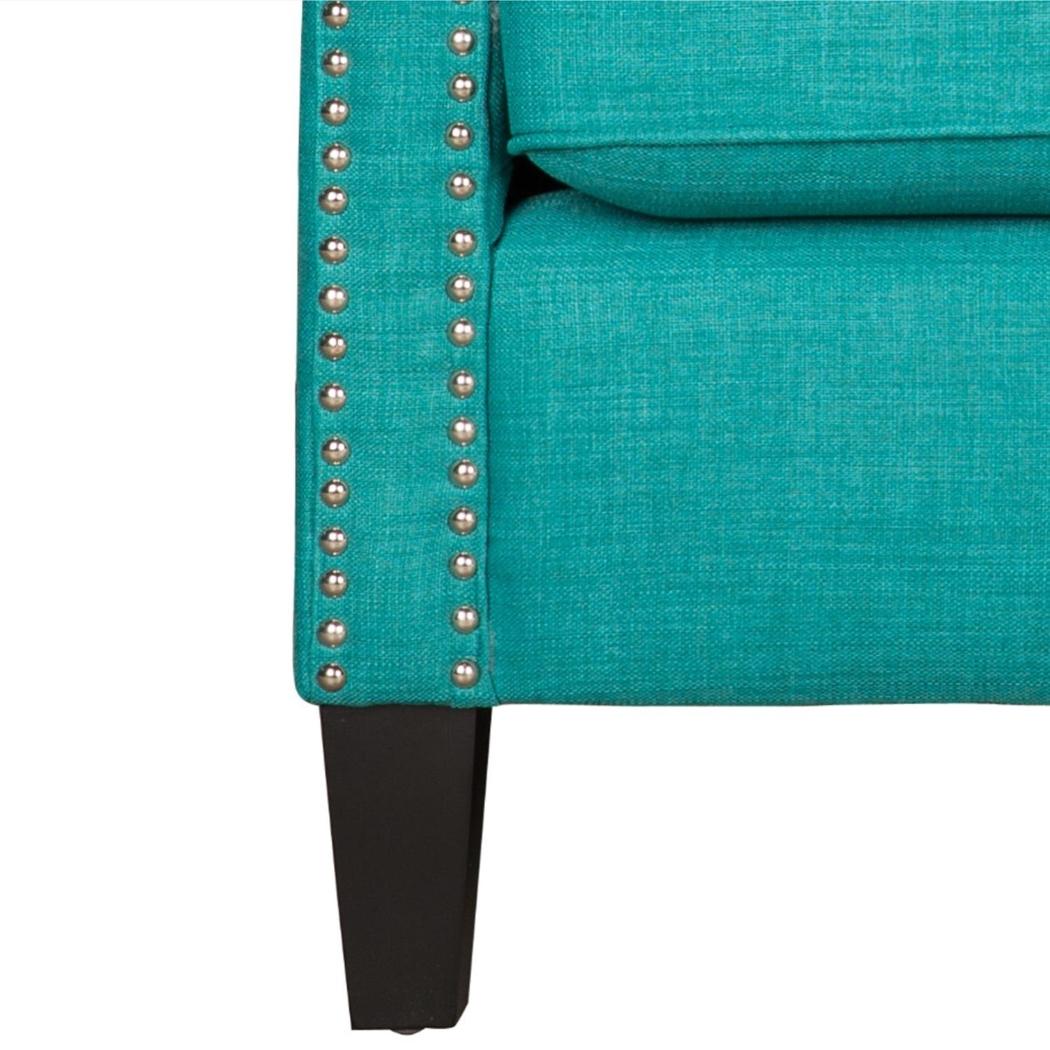 Magnificent Cambridge Bridgehampton Accent Chair With Nailhead Trim In Teal Teal Onthecornerstone Fun Painted Chair Ideas Images Onthecornerstoneorg