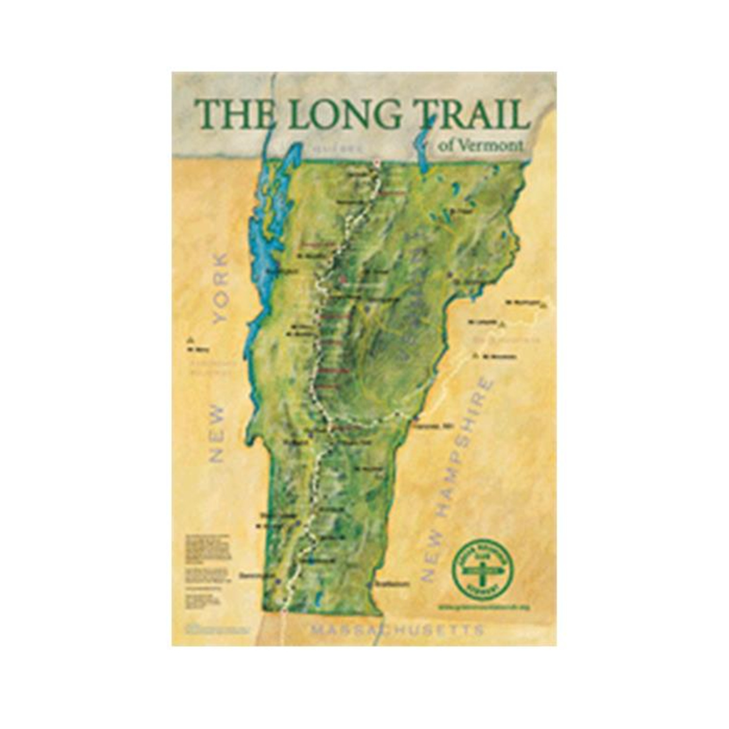 Vermont\'s Long Trail - Poster - $28.99 | OJCommerce