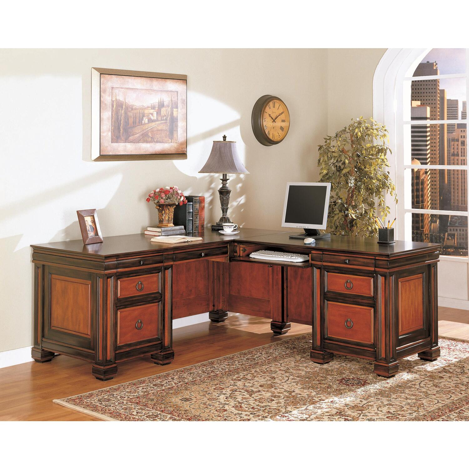 office l desk. Chomedey Traditional L-Shaped Desk - [800691] Office L